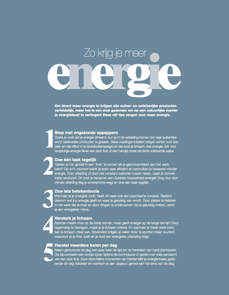 Tips Voor Meer Energie Tekstwekker
